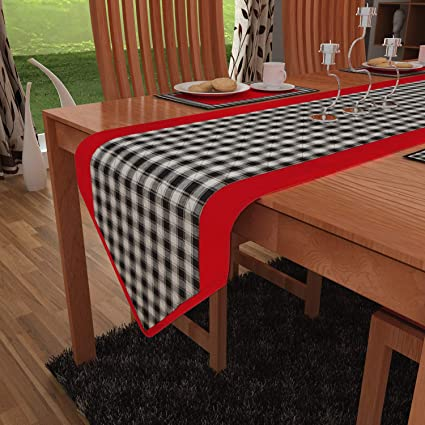HOME HEART Brands Buffalo Plaid Sturdy Cotton Large Table Runner 13X73