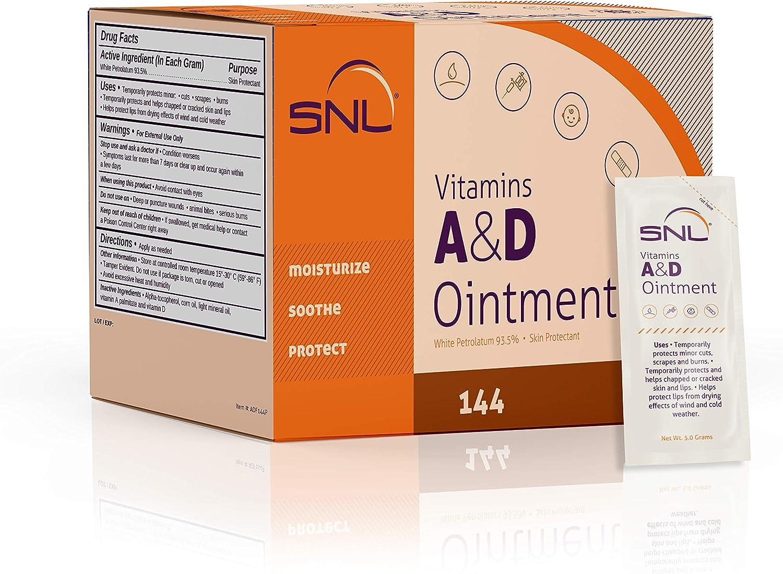 SNL Quality Vitamins A & D Ointment - 144 Foil Packets - 5 Grams Each
