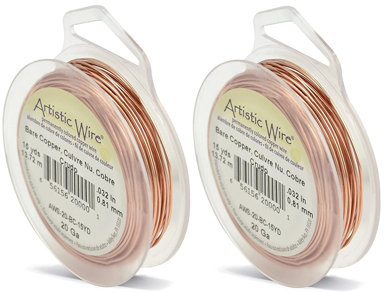Amazon.com: Artistic Wire 20-Gauge Bare Copper Wire,15-Yards: Arts ...