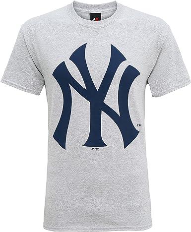 Producto Oficiales de Deportes Americanos - Camiseta de Manga Corta con el Logo New York Yankees Hombre Caballero (Grande (L)/Gris): Amazon.es: Ropa y accesorios