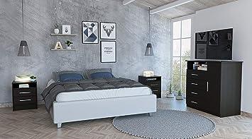 Amazon.com: TUHOME 3 Pc Bedroom Set Includes a 1 Door 4 ...