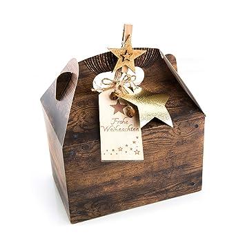 Weihnachtsgebäck Verpacken.Amazon De 3 Stück Verpackung Weihnachtsgeschenke 18 5 X 12 5 X 12