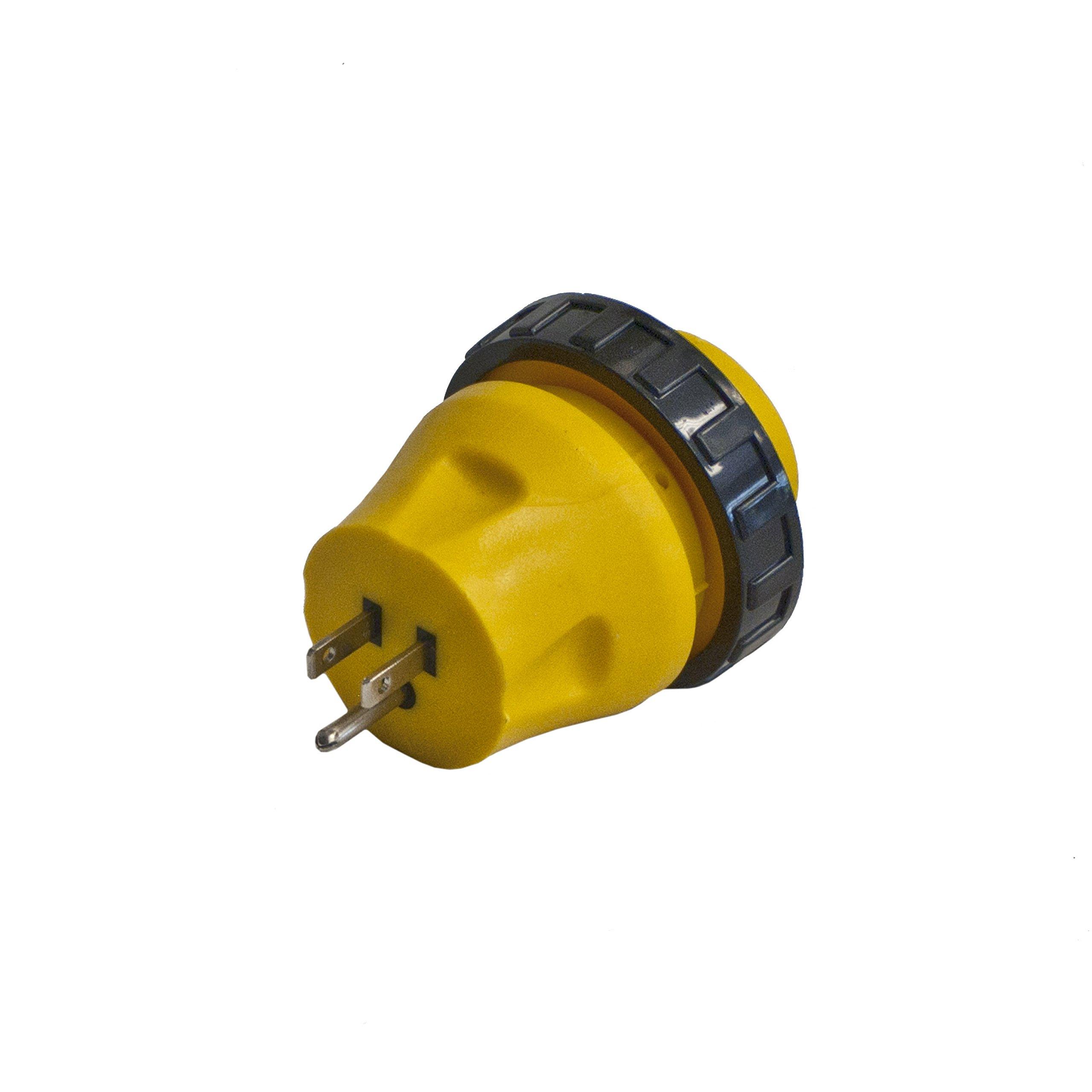 ALEKO L15-30 RV Electrical Locking Adapter 15A Male To 30A Female Locking Plug Connector