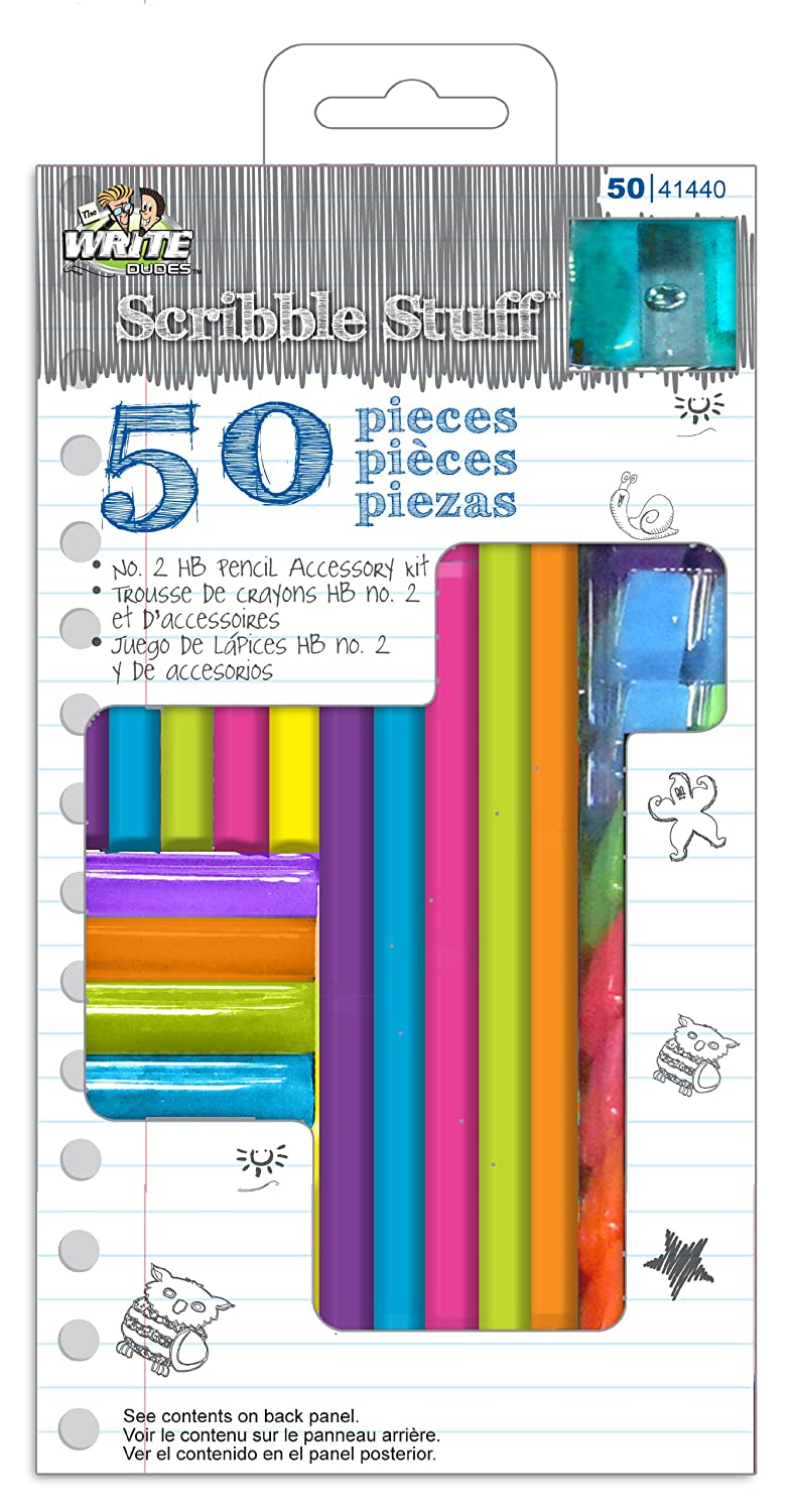 Write Dudes 50-Piece Pencil and Accessory Kit Mattel CXY99 Assorted Colors