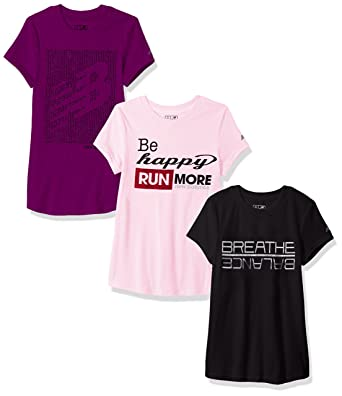 db3f1086f03 Amazon.com  New Balance Girls  3 Pack Graphic Tee  Clothing