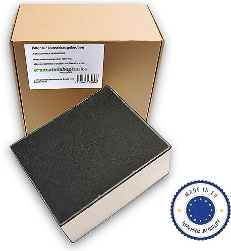 Ersatzteilshop basics Premium Filtro de carbón activo campana extractora de olores para Siemens, Bosch, Neff, Gaggenau – Apto para 678460/00678460/LZ562: Amazon.es: Grandes electrodomésticos