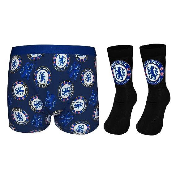 Chelsea FC - Set de calcetines y calzoncillos de tipo bóxer para niños - Producto oficial: Amazon.es: Ropa y accesorios