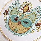 Owl Leaves Beginner Hand Embroidery Sampler