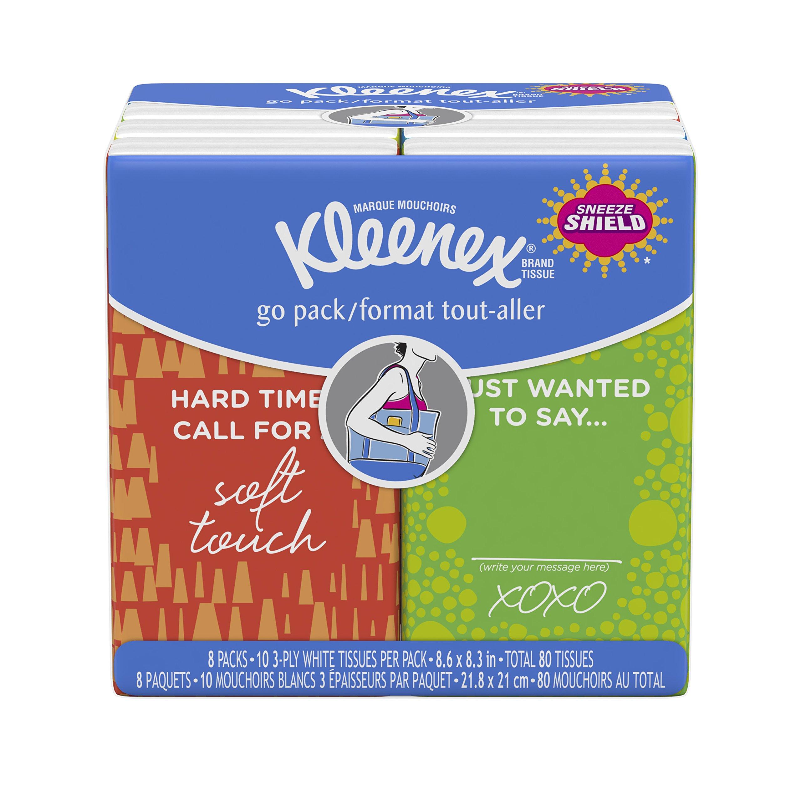 Kleenex Facial Tissues, 8 ct, (Pack of 24)