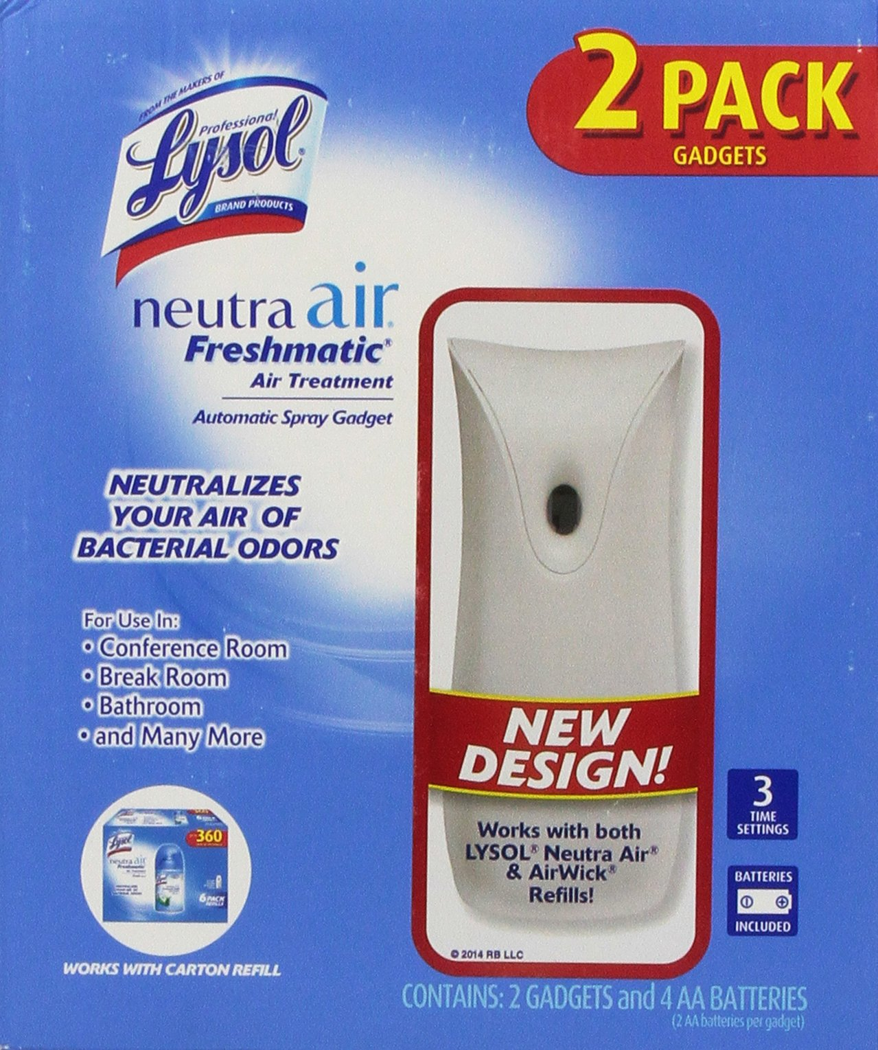Lysol Neutra Air Freshmatic Automatic Spray Gadget (2 pk.) Package may Vary