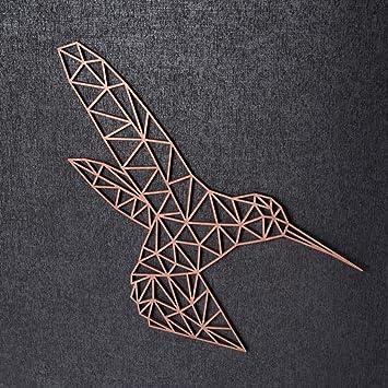Farbe Gold Gr/ö/ße: M 22,0 x 18,8 cm GRAVURZEILE Origami Anker aus Holz Moderne Wand-Deko /& Eyecatcher in verschiedenen Farben /& Gr/ö/ßen