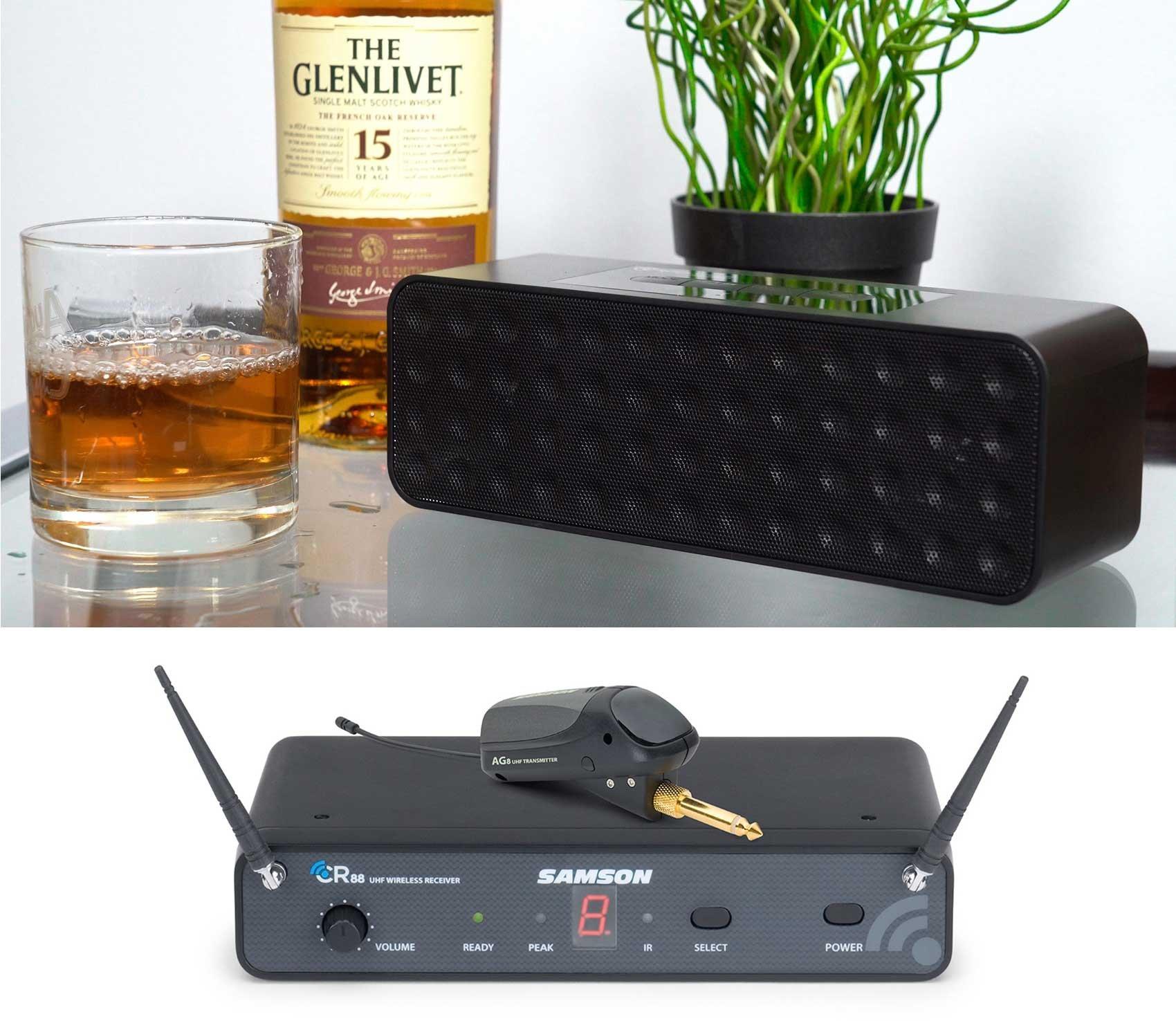 SAMSON AirLine 88 AG8 UHF Guitar System, w/ Plug-In Transmitter+Free Speaker