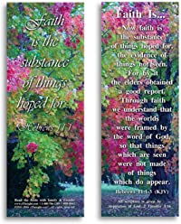 eThought Bible Verse Cards, by - Hebrews 11:1 - Faith is - Pack of 25 Bookmark Size Cards (BB-B002-25)