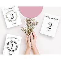 Láminas impresas CUMPLE MES   Lámina para celebrar el cumple mes   Recuerdo de crecimiento   Bebe recién nacido   Ahora…