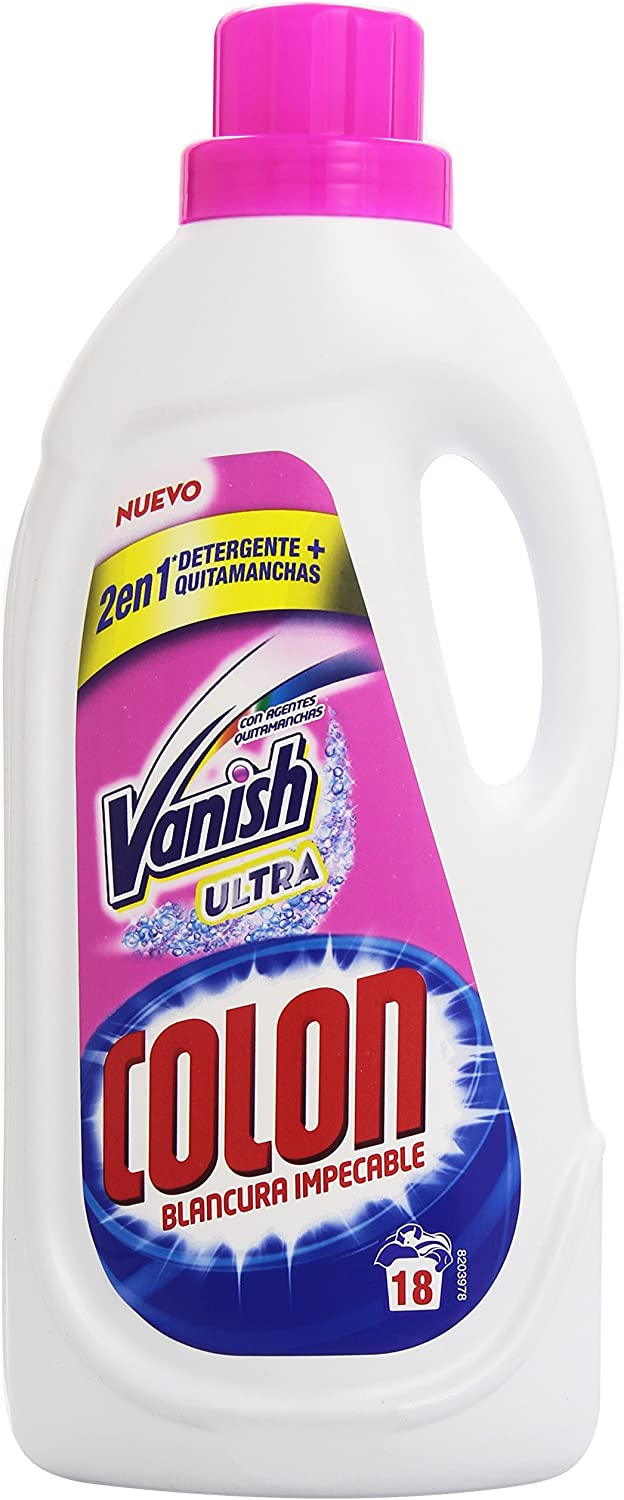 Vanish Ultra Colon - 2 en 1 Detergente + Quitamanchas - Blancura Impecable - 1.188 l: Amazon.es: Alimentación y bebidas