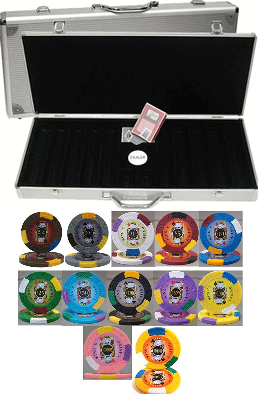 Kingsカジノ13.5 GM 500 ChipクレイPokerセットwith Aluminumケース