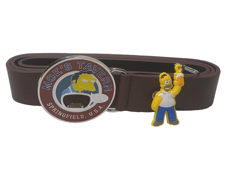 Cinturón y llavero para hombre HOMER SIMPSON: Amazon.es ...