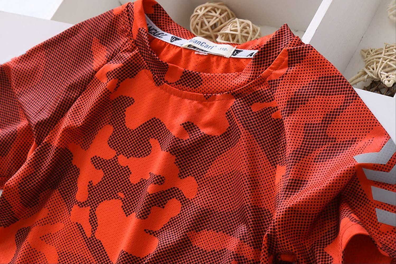 //Pantalones Cortos De Manga Corta Traje De/Camiseta/Unisex para Ni/ños Traje De Camuflaje