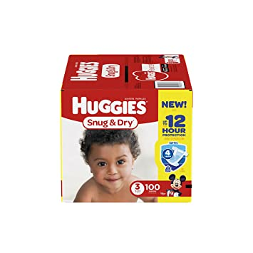 Huggies Snug & Dry Diapers Size 3-100 CT