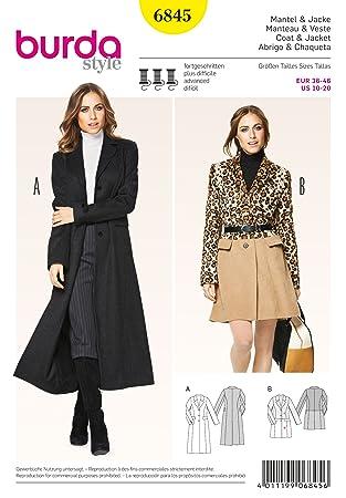 Burda 13 X Cm B6845 Veste Manteau Patron Couture 19 De Et Ybf7Igv6y