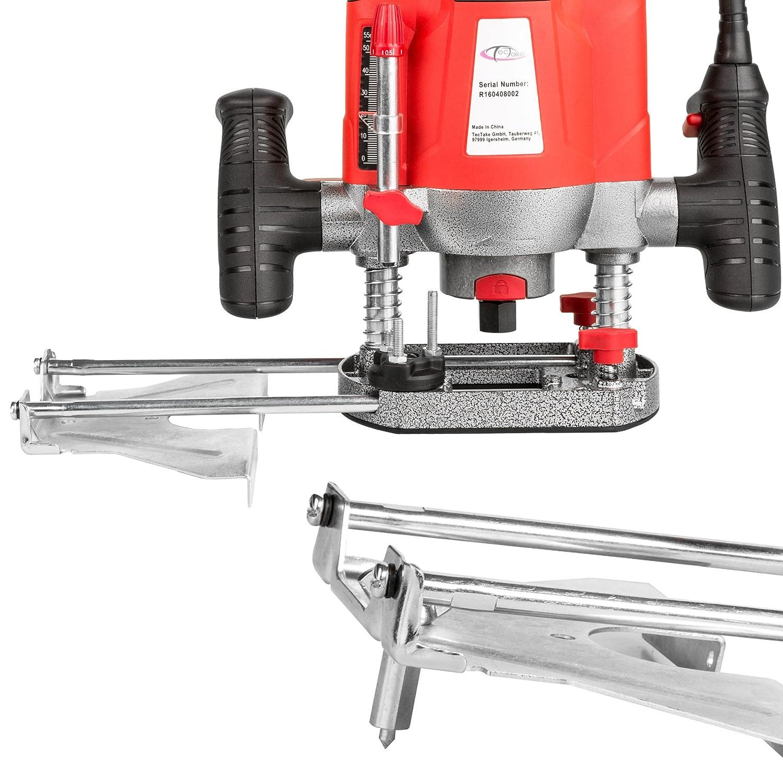 Set de 12/fraises TecTake D/éfonceuse verticale /électrique 1200/W fraise /à bois pantographe