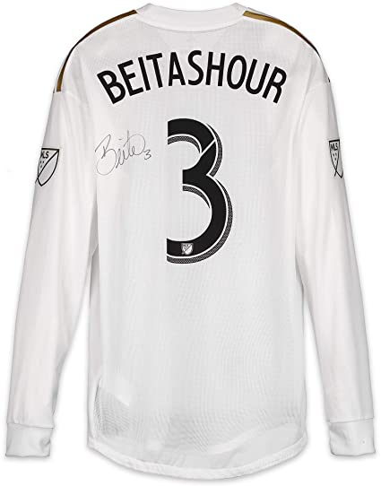 buy online af6aa fccbf Steven Beitashour LAFC Autographed Match-Used White #3 ...