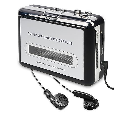 DIGITNOW Cassette Player-Cassette Tape To MP3 CD Converter Via USB,Portable  Cassette Tape Converter Captures MP3 Audio Music,Convert Walkman Tape