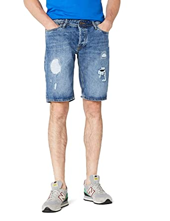 JACK   JONES Herren Shorts JJIRICK JJORIGINAL 105 STS, Blau (Blue Denim), 658ecc1225