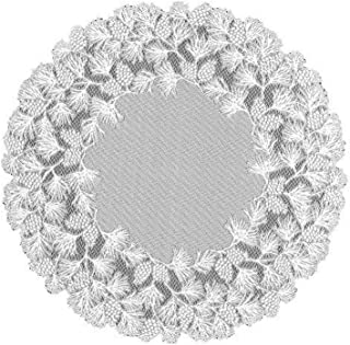 product image for Heritage Lace Woodland 48-Inch Round Table Topper, Ecru