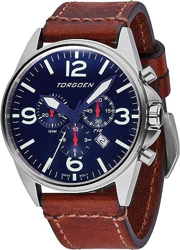Torgoen T16 Blue Swiss Chronograph Pilot Watch