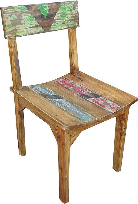 Sedie In Legno Riciclato.Guru Shop Teak Sedia Di Legno Fatta Di Legno Riciclato