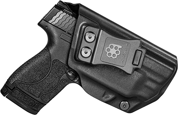 Amberide IWB KYDEX Holster Fit: S&W M&P Shield 9mm/.40 with Integrated CT Laser | Inside Waistband | Adjustable Cant | US KYDEX Made