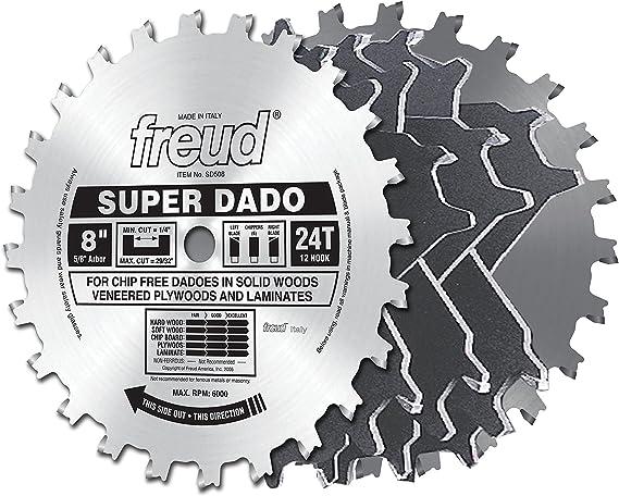 "Irwin Marples 8/"" Carbide Stacked Dado Blade 12T Circular Table Saw Blade Italy"