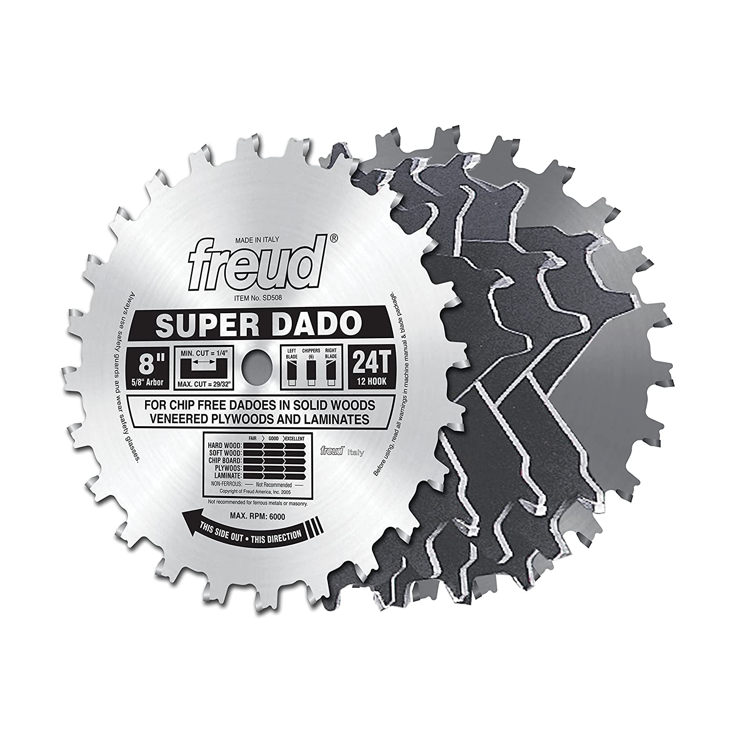 Freud 8 x 24t super dado sets sd508 dado saw blades amazon keyboard keysfo Gallery