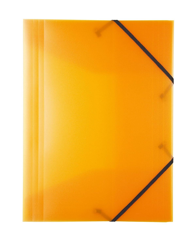PP Gummizugmappe DIN A3 transluzent gr/ün Idena 10379