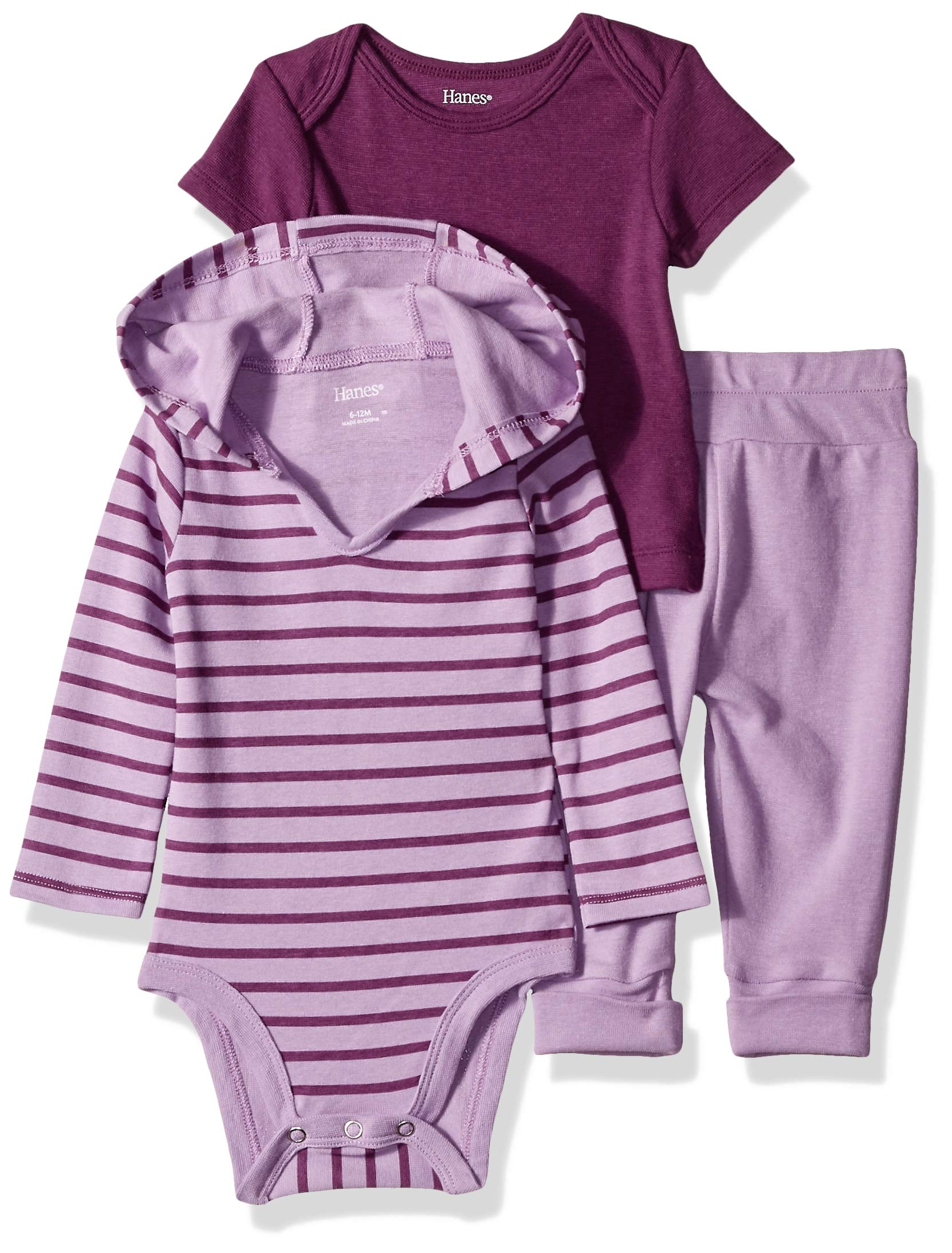 Hanes Ultimate Baby Flexy Knit Jogger with Hoodie