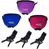 Beautyflier Wine Glass Insulator/Drink Holder/Neoprene Sleeve with Adjustable Neck Strap For Wine Walk (Blue/Burgundy/Purple)