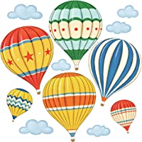 DECOWALL DS-8011 Colourful Hot Air Balloons Kids Wall Stickers Wall Decals Peel and Stick Removable Wall Stickers for…