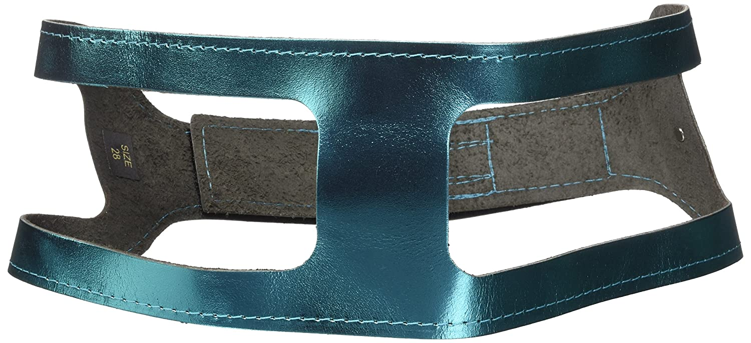 ChokeFree Pet Shoulder Collar, 28-Inch, Metallic Turquoise