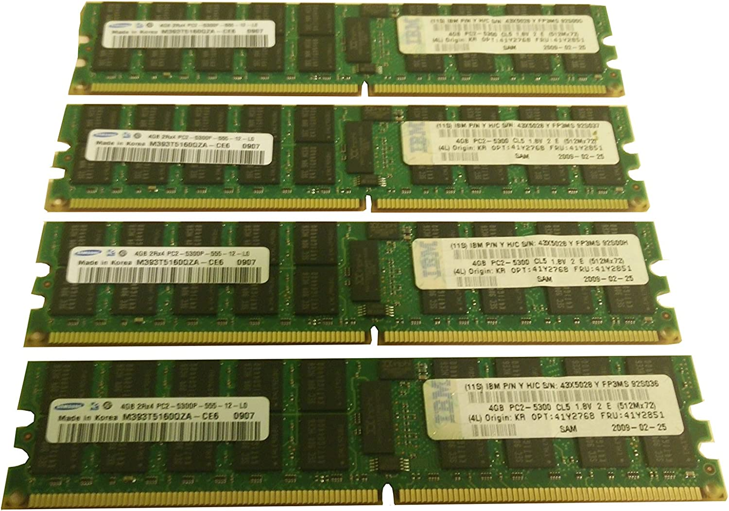 NEW SAMSUNG 4GB PC2-5300 DDR2-667 ECC REG REGISTERED RAM #M393T5160QZA-CE6
