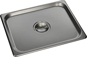 Winco SPSCH 1/2 Size Solid Cover,Stainless Steel,Medium