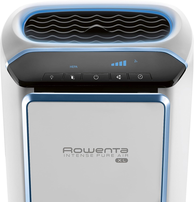 Rowenta pu4020 Intense Pure Air filtro HEPA Purificador de aire con sensores de contaminación y 4 filtros incluyendo formaldehyde-free Tecnología y Reducción de olor, 53,3 cm, color blanco: Amazon.es: Hogar