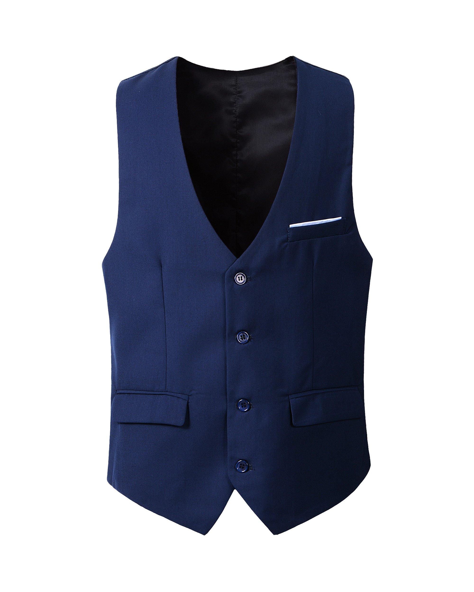 Benibos Men's Slim Fit Suit Vest (M, 305MJ-Navy)