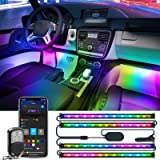 Govee Dreamcolor Interior Car Lights, Car LED Lights with APP and IR Remote, Upgraded 2-in-1 Design 4PCS 72 LED RGBIC…