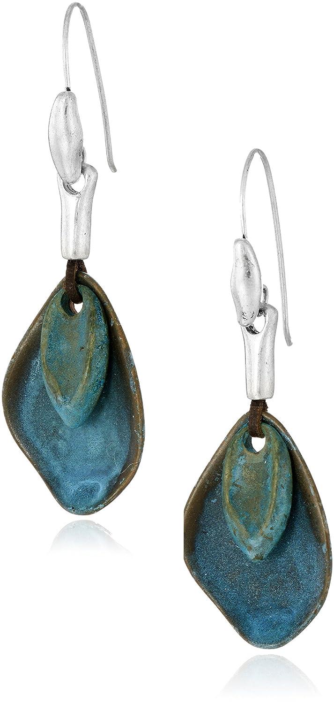 9a283e21f Amazon.com: Robert Lee Morris Layered Sculptural Patina Drop Earrings:  Jewelry