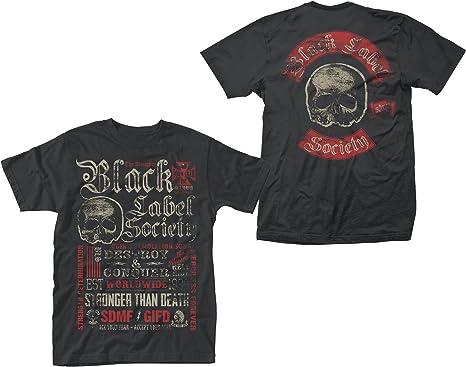 Black Label Society Stronger Than Death Rock oficial Camiseta para hombre: Amazon.es: Ropa y accesorios