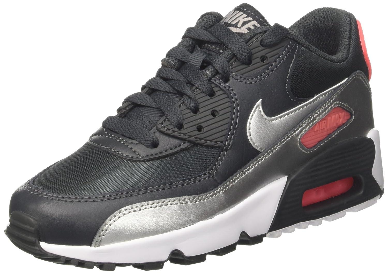 Nike Air Max 90 Mesh (gs) Scarpe da ginnastica Basse Bambino Nero (anthracite