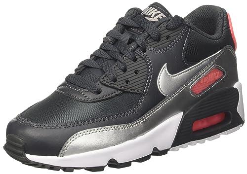 new arrival 07de3 953c5 Nike Air MAX 90 Mesh (GS), Zapatillas de Gimnasia para Niñas  Amazon.es   Zapatos y complementos