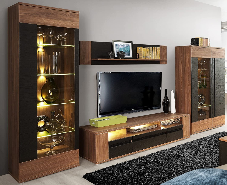 Faszinierend Anbauwand Wohnzimmer Sammlung Von Wohnwand Latina Mit Led Beleuchtung, Möbel Jetzt