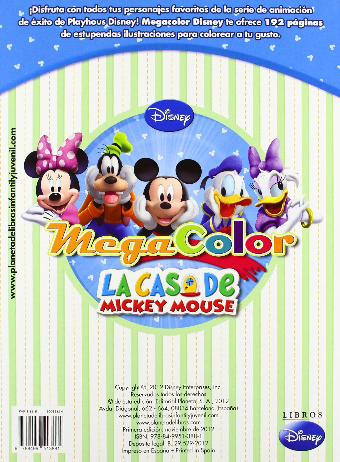 La casa de Mickey Mouse. Megacolor (Disney. Mickey): Amazon.es: Disney, Editorial Planeta S. A.: Libros